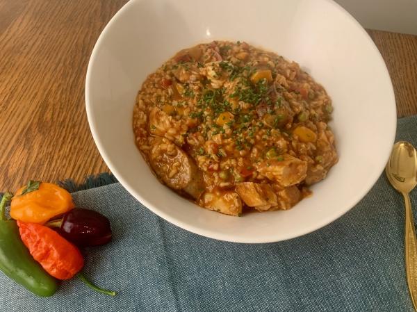 Jambalaya in bowl